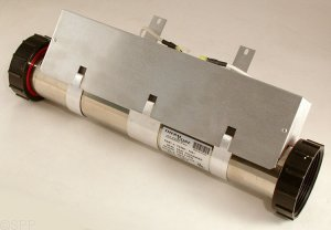 F2400-1001 - Heat Exchanger,Leisure Bay,Flo-Thru,SS,4kW,240V,3 Inch x 17.5 Inch L - F2400-1001