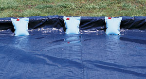 Wall bags for above ground pools for Swimming pool winter cover anchors