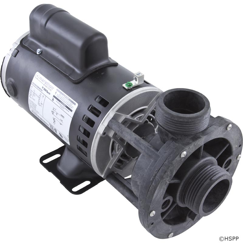 02610000 - Pump Assy,AQUAFLO FMCP, Center Discharge, 1HP, 2 Speed, 115V, 48 Frame, 1-1/2 Inch MBT,1-1 / 2 Inch MBT In/Out, No Unions, No Cord (Has Capacitor Mounted On Top) - 02610000