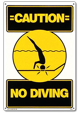 Pool safety sign no diving poolmaster - Commercial swimming pool safety equipment ...