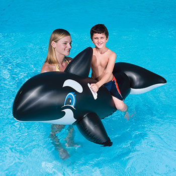 NT2691 - Jumbo Whale Inflatable Ride-On Pool Toy - NT2691