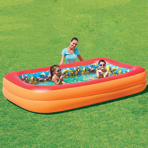 NT5052 - Splash & Play 3D Interactive Adventure Rectangular Inflatable Pool - NT5052