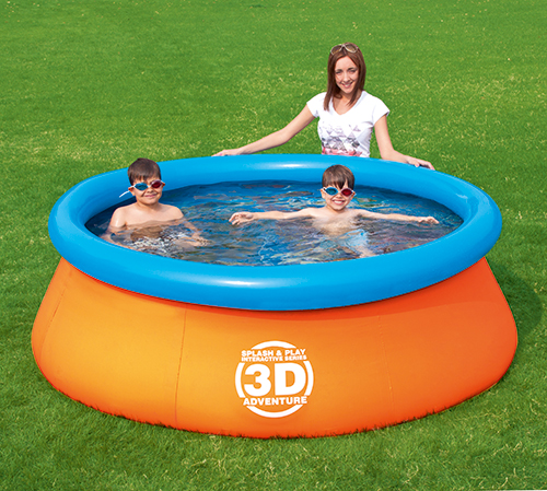 NT5057 - Splash & Play 3D Adventure 7 Ft. Fast Set Family Pool - NT5057
