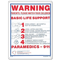 PM40367 - Pool & Spa Sign - Basic Life Support - 40367 - PM40367