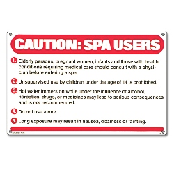 PM40360 - Spa Sign - Caution: Spa Users - 40360 - PM40360