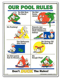 PM41339 - Pool Rules Sign - Duck Animation - PM41339