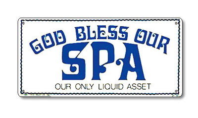 PM41343 - Spa Sign - God Bless our spa - PM41343