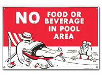 PM40369 - Pool Sign - No Food Or Beverages - 40369 - PM40369