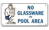 PM41332 - Pool Sign - No Glassware in Pool Area - 41332 - PM41332