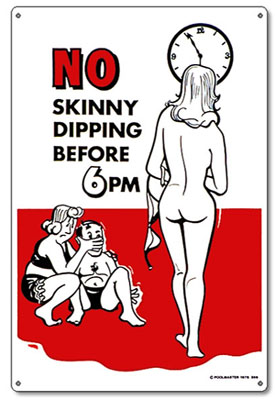 PM41356 - Pool & Spa Sign - No Skinny Dipping - PM41356