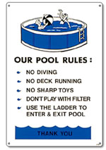 PM41370 - Pool Sign - Our Pool Rules - Aboveground Pools - 41370 - PM41370