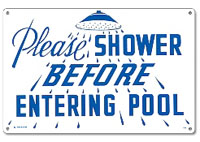 PM40320 - Pool Sign - Please Shower - 40320 - PM40320