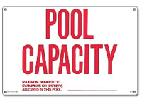 PM40361 - Pool Sign - Pool Capacity - 40361 - PM40361
