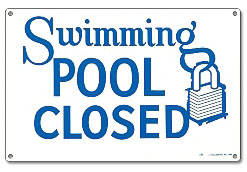 PM40333 - Pool Sign - Swimming Pool Closed - 40333 - PM40333