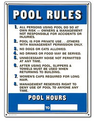 PM40322 - Pool Sign - Commercial Pool Rules - 40322 - PM40322