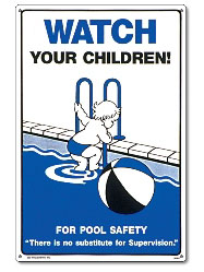 PM40363 - Pool Safety Sign - Watch Your Children - 40363 - PM40363