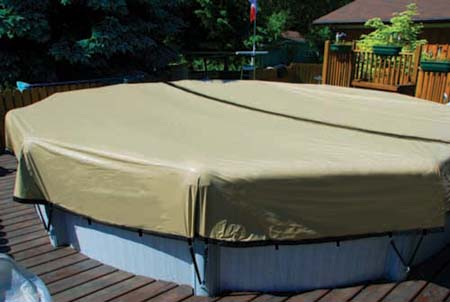 Cheap Pool Covers Above Ground Pools >> The Ultimate Winter Pool Cover Self Draining Winter Pool Cover For