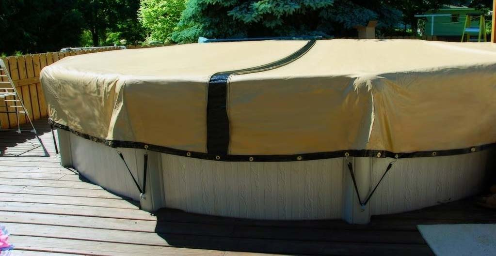The ULTIMATE Winter Pool Cover Self-Draining Winter Pool ...