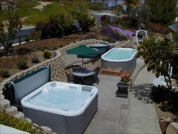 Here You Can See A Matched Set Swim Spa Next To Hot Tub Normally This Is Done Have The Cold And
