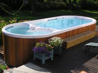 What is a swim spa for Types of hot tubs