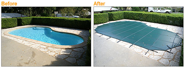 Decorative Pool Covers : Loop loc safety swimming pool covers custom shaped