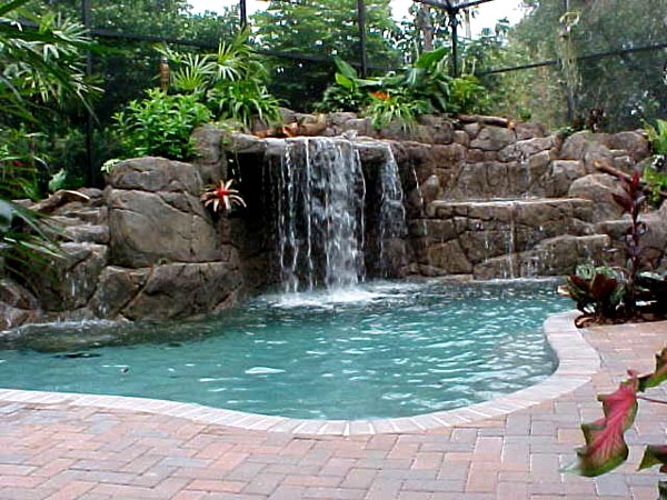 modren cool pools with waterfalls pool designs fabulous - Cool Pools With Waterfalls In Houses