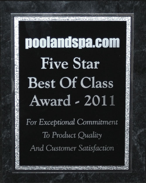 Poolandspa.com Best Of Class Award - 2011