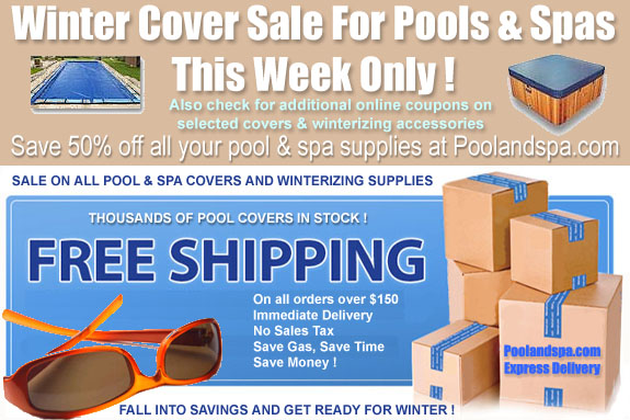 Winter Cover Sale On Swimming Pool And Hot Tub Spa Covers This Week Only !