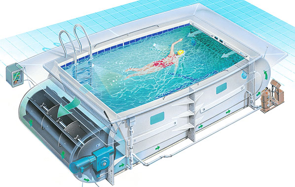 Swimex swim spas and exercise pools product information - Usa swimming build a pool handbook ...