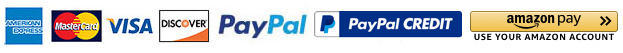 We Now Accept PayPal And Amazon Pay For Your Convenience!