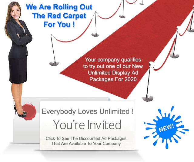 You're Invited! We Are Rolling Out The Red Carpet For Your Company!