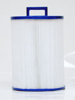PWW50P4 - Filter Cartridge - Waterway Front Access Skimmer - Pleatco - UPC - 90164006543 - Height: 7  5/8 - Diameter: 6 - TopID: Handle - BottomID: 1 1/2 MPT - PWW50P4