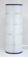PA100 - Filter Cartridge - Hayward Star-Clear II C1100, open w/ molded gasket - CX1100-RE - Pleatco - UPC - 90164100203 - Height: 23-1/4 - Diameter: 8-1/2 - TopID: 4-1/8 - BottomID: 4-1/8 - Misc: URET GASKET - PA100
