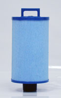 PDM25P4-M - Filter Cartridge - Dream Maker Spas (MICROBAN?) - Pleatco - UPC - 90164202532 - Height: 8  1/8 - Diameter: 4  3/4 - TopID: Handle - BottomID: 1 1/2 MPT - Misc: 4CH-24 - PDM25P4-M
