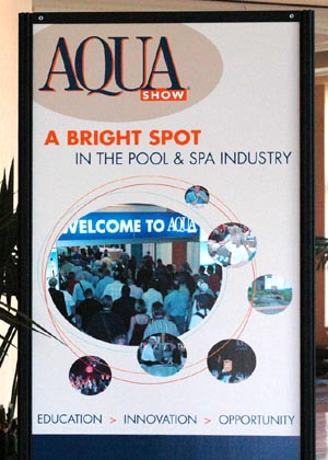 Aqua 2008 trade show a big hit pool and spa industry for Pool and spa expo